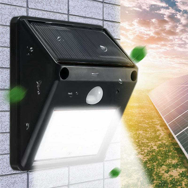Waterproof 12 LED Solar Light Motion Sensor Garden Light Outdoor Pathway Wall Lamp - Sunporium