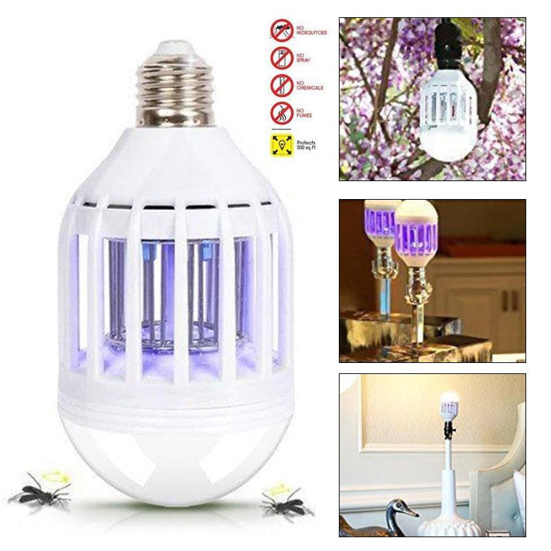 2 In 1 Zapplight Dual LED Lightbulb Zapper Mosquito killer anti-mosquito - Sunporium
