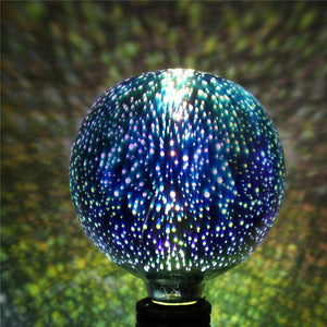3D Fireworks Retro Edison Bulb Colorful Glass Globe Lamp - Sunporium