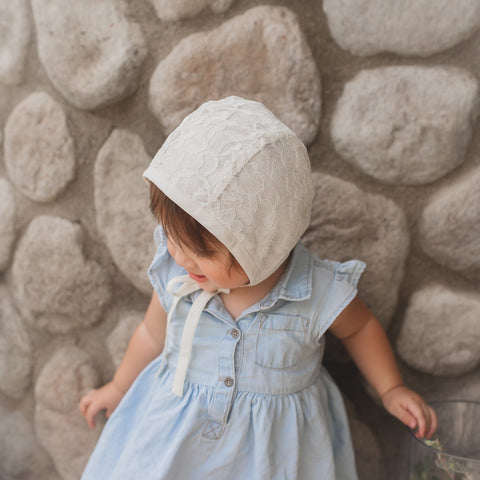 Mila Lace Reversible Bonnet