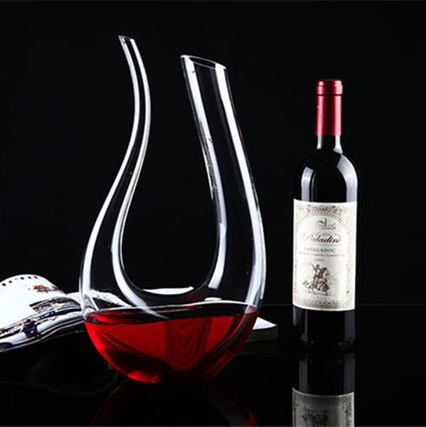 U-Shaped Crystal Decanter