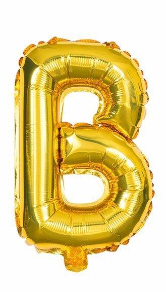 'B' Gold Letter Balloon