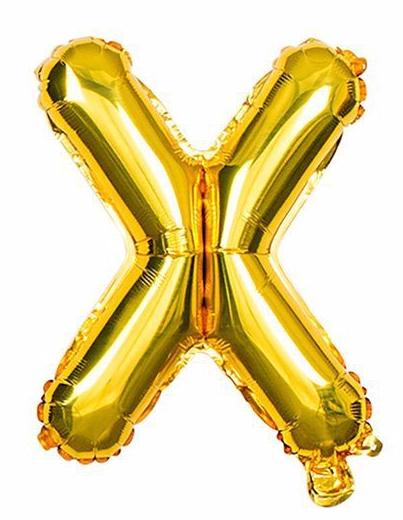 'X' Gold Letter Balloon