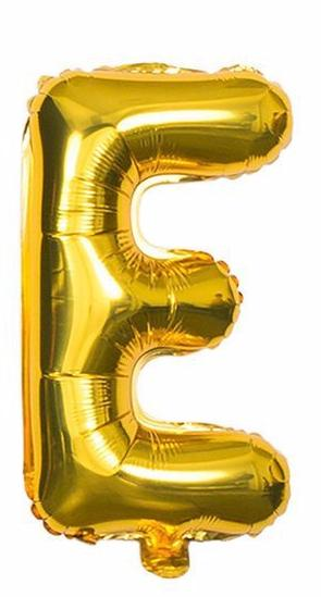 'E' Gold Letter Balloon