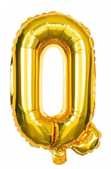 'Q' Gold Letter Balloon