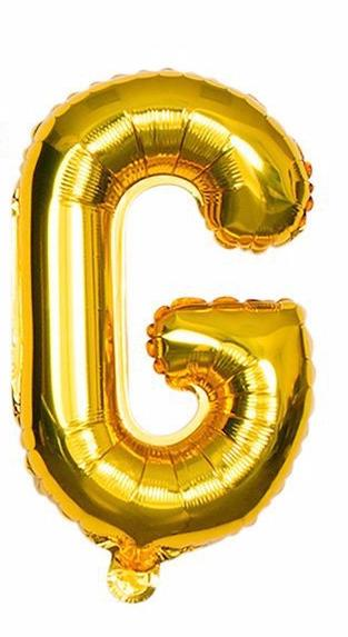 'G' Gold Letter Balloon