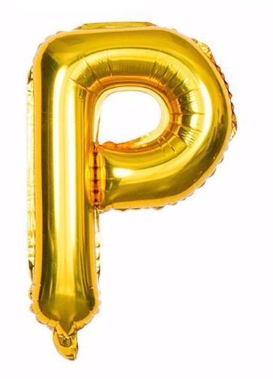 'P' Gold Letter Balloon