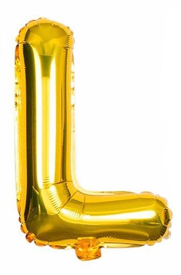 'L' Gold Letter Balloon