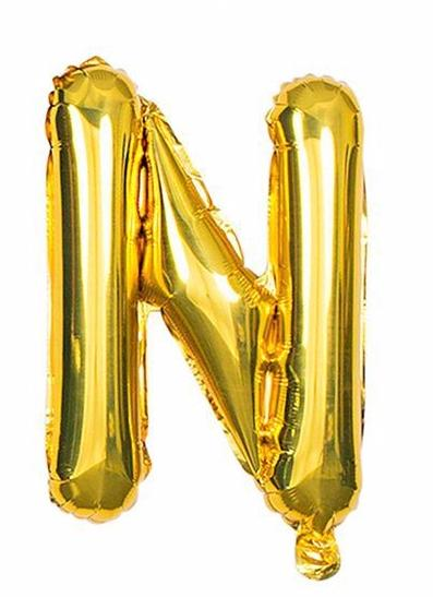 'N' Gold Letter Balloon