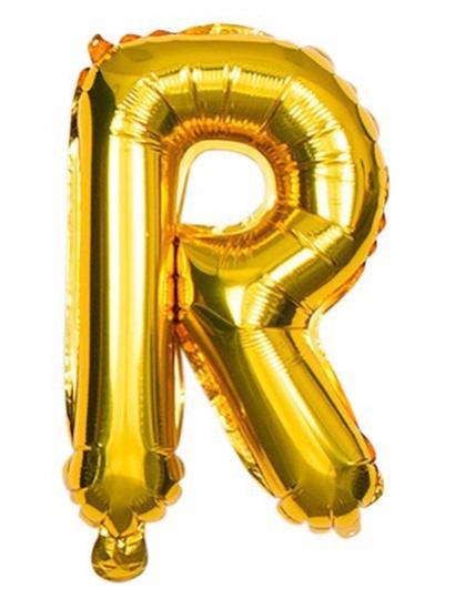 'R' Gold Letter Balloon