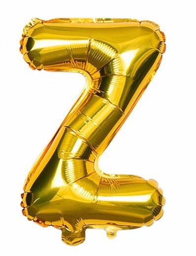 'Z' Gold Letter Balloon