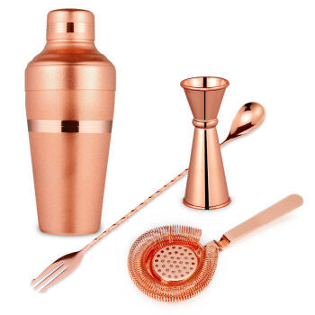 Premium Copper Boston Cocktail Set