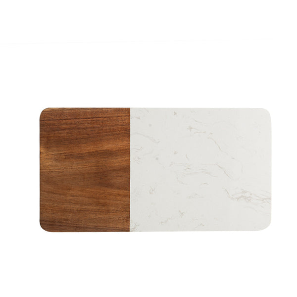 Wood & Marble Mosaic Serving Board