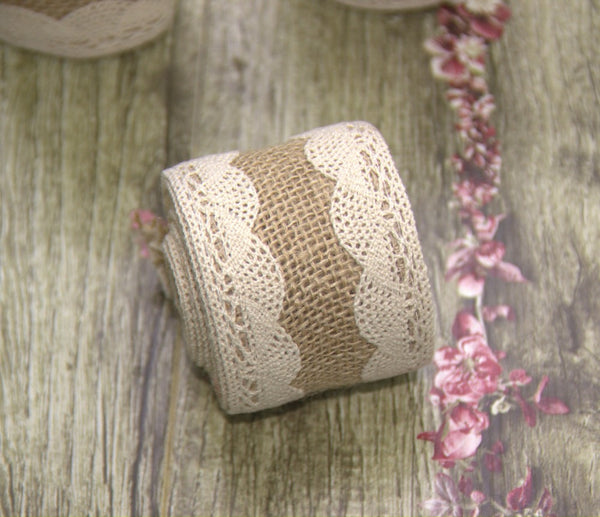 Rural Burlap Linen Ribbon