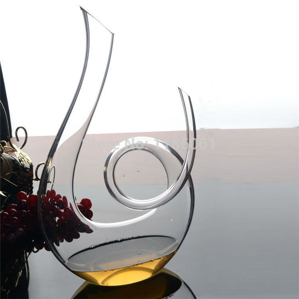 Hand-cut Crystal Spiral Decanter