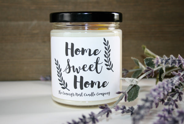 """Home Sweet Home"" Soy Candle, Choose Your Scent, 8 oz. Candle"