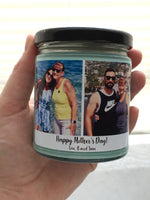 Personalized Photo Candle, Choose Your Scent, Picture Candle