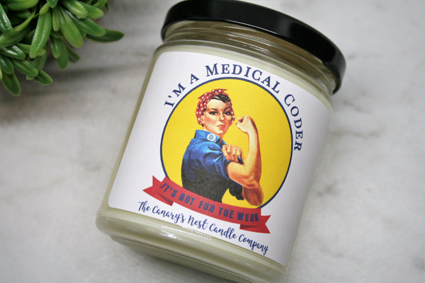 Medical Coder Candle, Soy Candle, Choose Your Scent