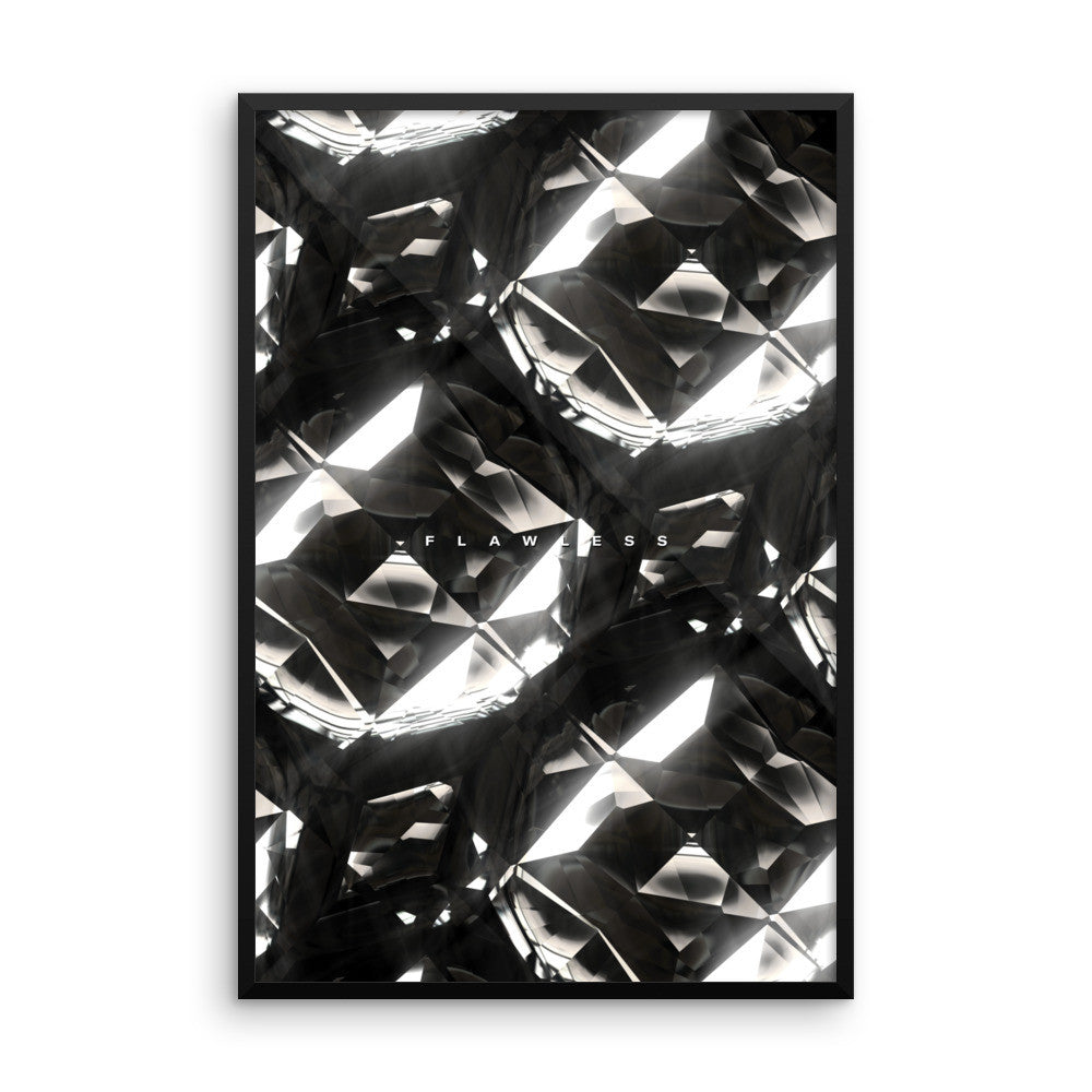Flawless (Black Diamonds) - Wall Art from Art Above All. Encrust your home or office walls with lavish sparkles fit for the Hollywood actor or actress in you.  This framed wall print is available in multiple sizes.