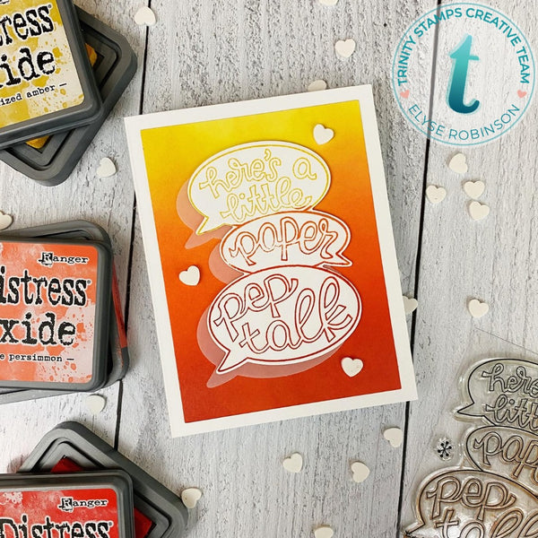 Paper Pep Talk - Clear Stamp