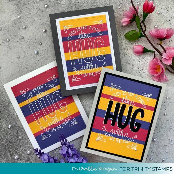 Folded Hug - Clear Stamp