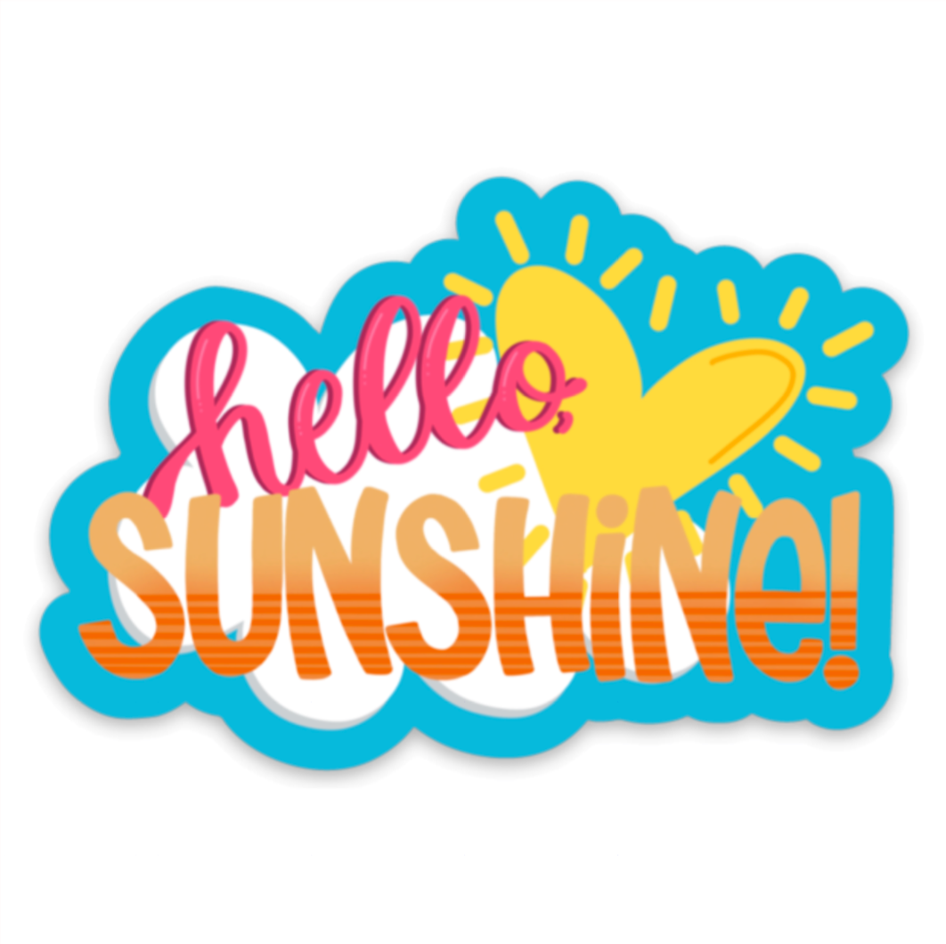 Hello, Sunshine! - Vinyl Sticker