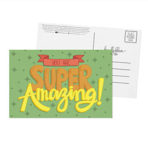 You Are Super Amazing - Postcard