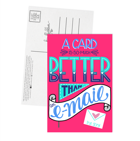 A Card is So Much Better Than an Email - Postcard
