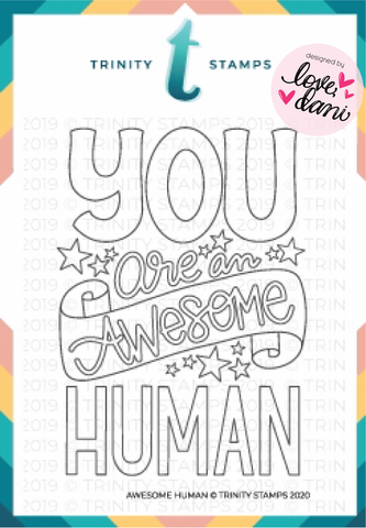 Awesome Human - Clear Stamp