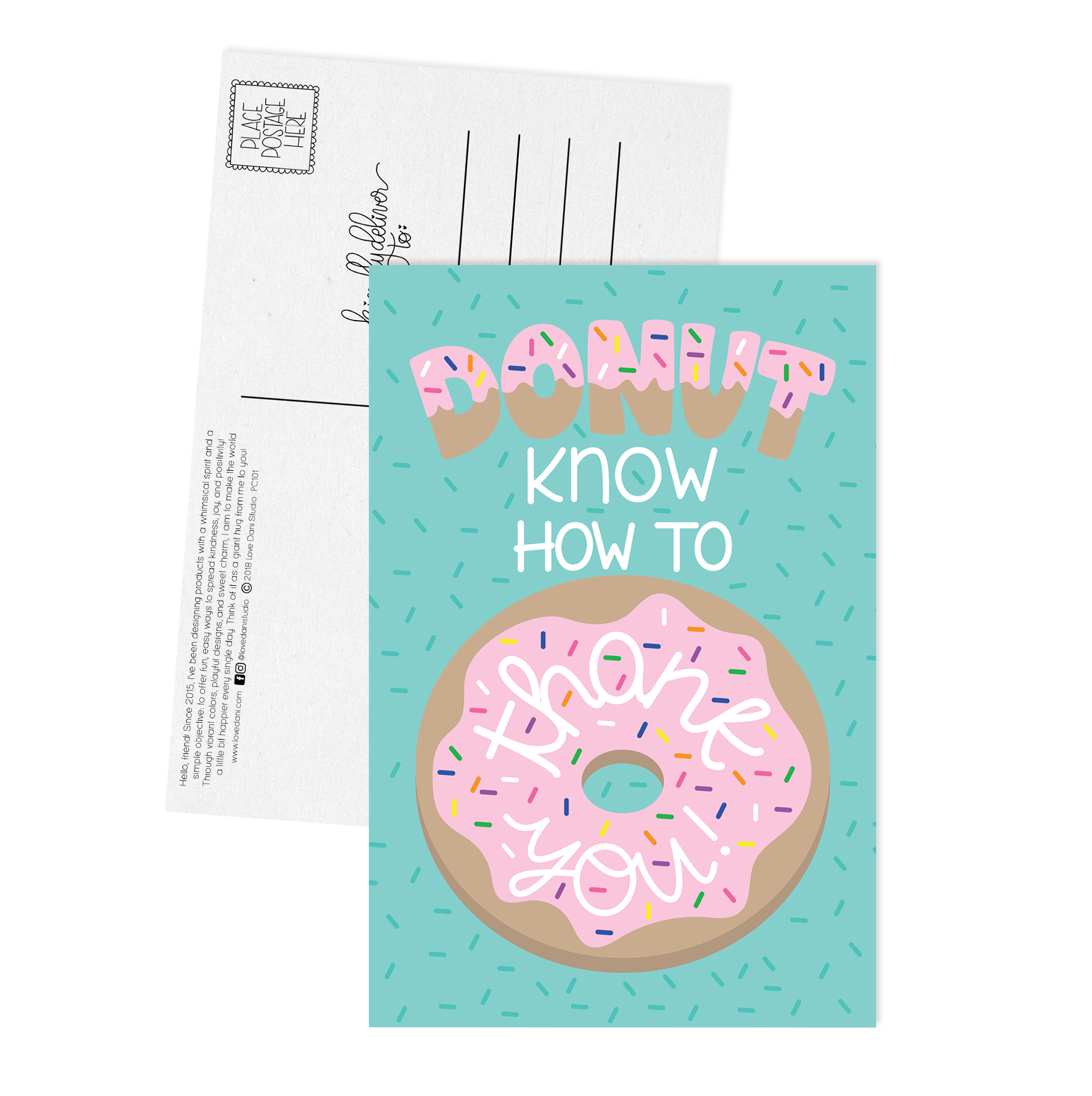 Donut Know How to Thank You - Postcard