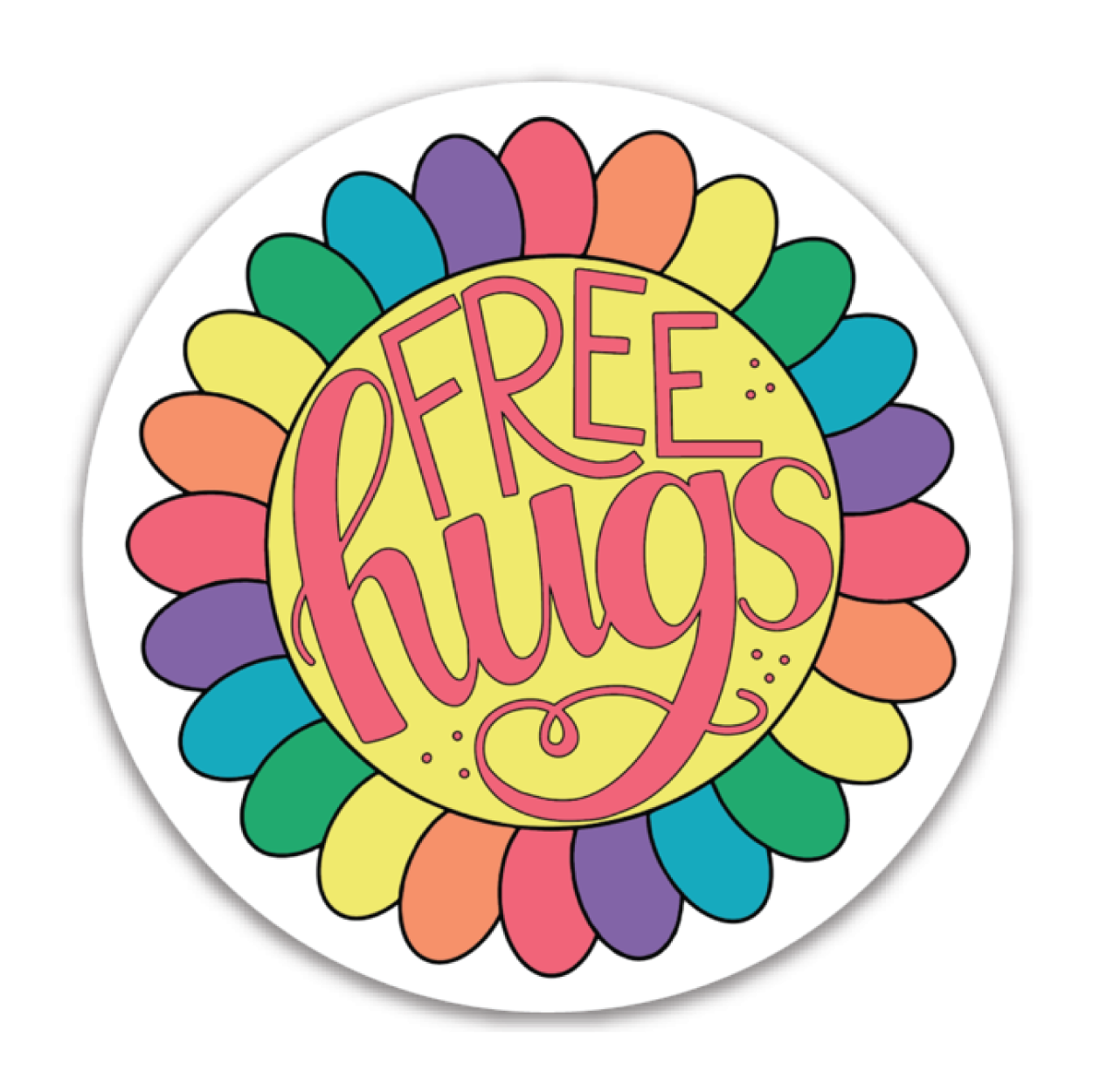 Free Hugs - Vinyl Sticker