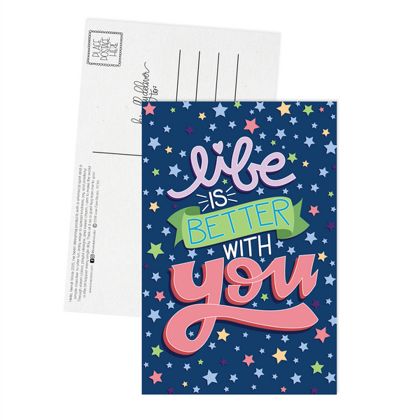 Life is Better With You - Postcard