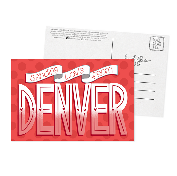 Sending Love From Denver - Postcard