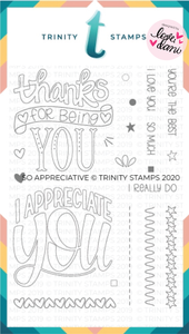 So Appreciative - Clear Stamp