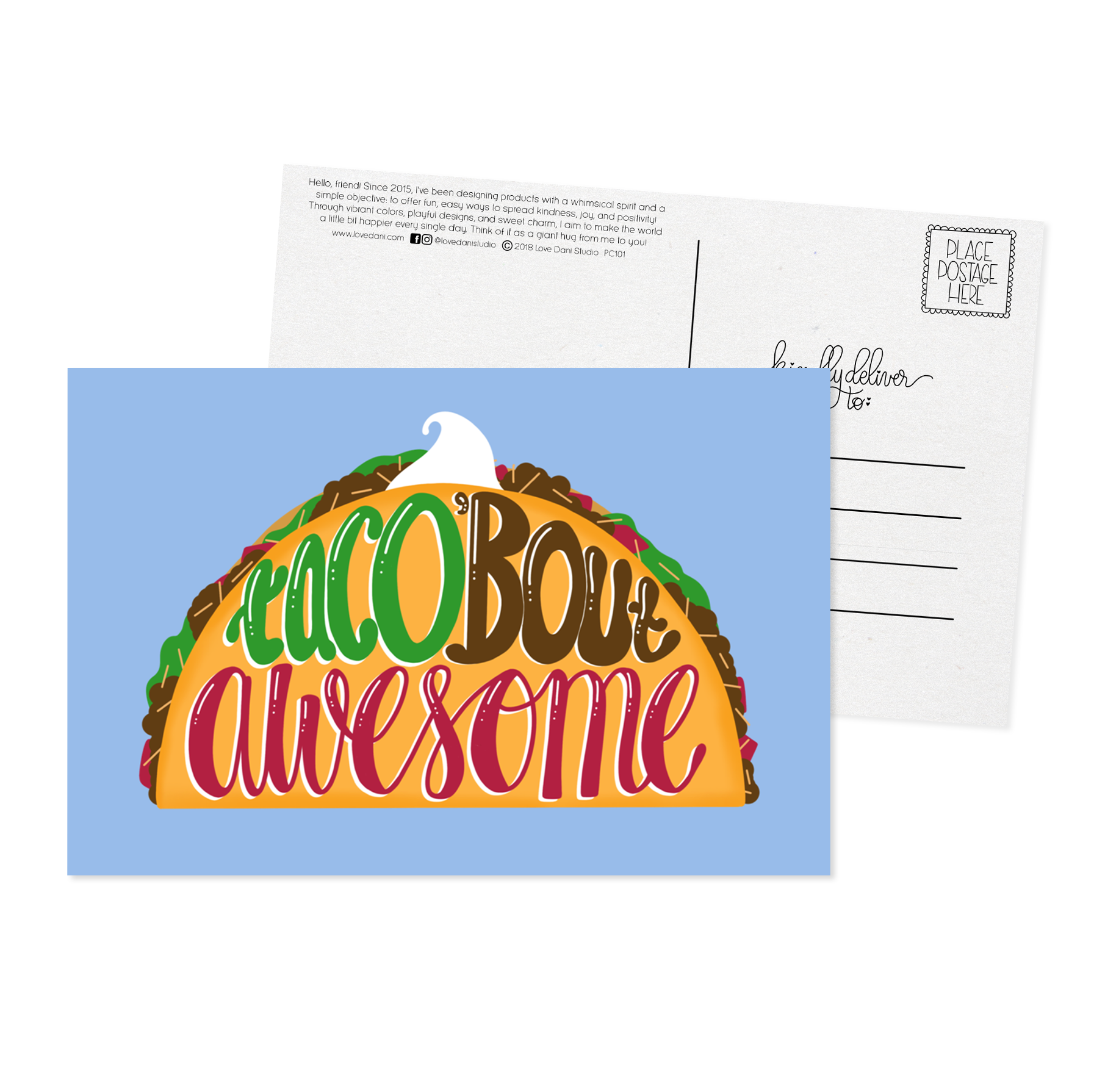 Taco 'Bout Awesome - Postcard