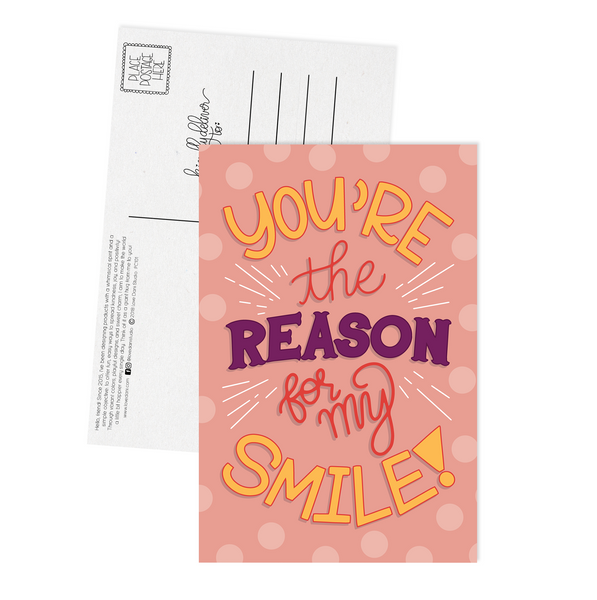 You're the Reason for my Smile - Postcard