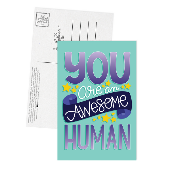 You Are an Awesome Human - Postcard