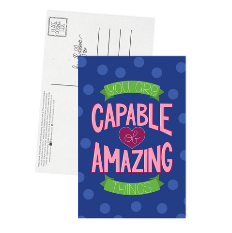 You Are Capable of Amazing Things - Postcard