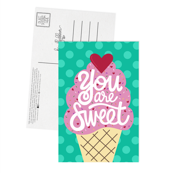 You are Sweet - Postcard