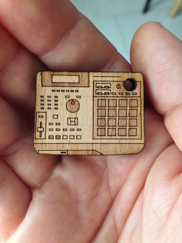 MPC Mini Woodgrain Keychain