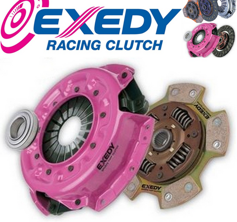 Exedy 240mm HD Sports Organic Clutch Kit & Replacement Flywheel Combo Mitsubishi EVO 4,5,6,7,8,9 (MBK-7420SMFSO)