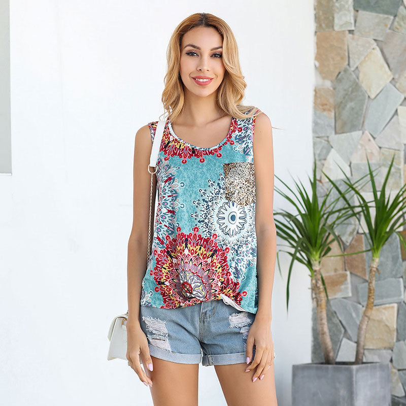 PRINT TANK WITH SPARKLE POCKET