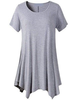 SHORT SLEEVE ASYMMETRICAL TOP
