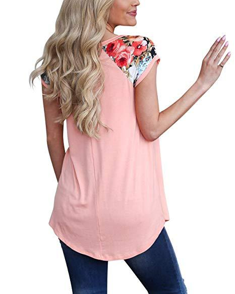 FLORAL PATTERNED SHOULDER TOP