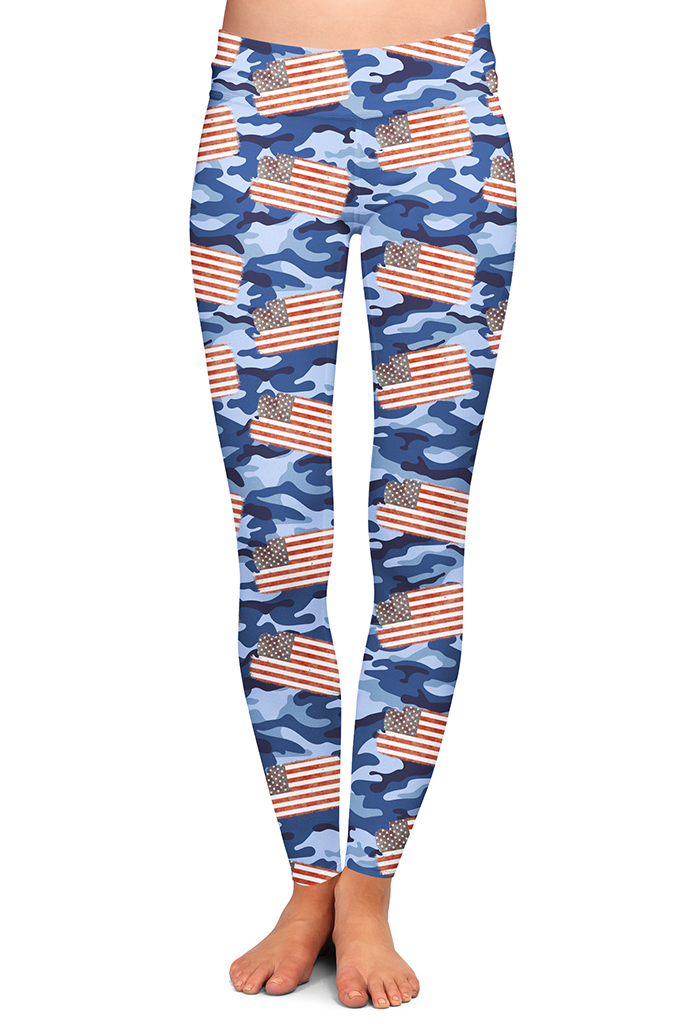 AMERICAN FLAG CAMO LEGGINGS - YOGA - EXCLUSIVE!