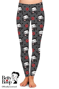 OFFICIAL BETTY BOOP LOVE LEGGINGS - YOGA - EXCLUSIVE!