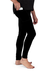 SOLID BLACK WITH SIDE POCKET LEGGINGS - YOGA - EXCLUSIVE!