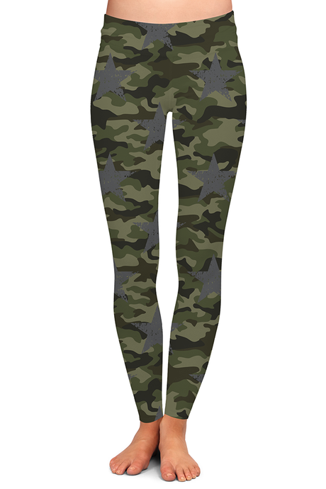 CAMO STAR LEGGINGS - YOGA - EXCLUSIVE!
