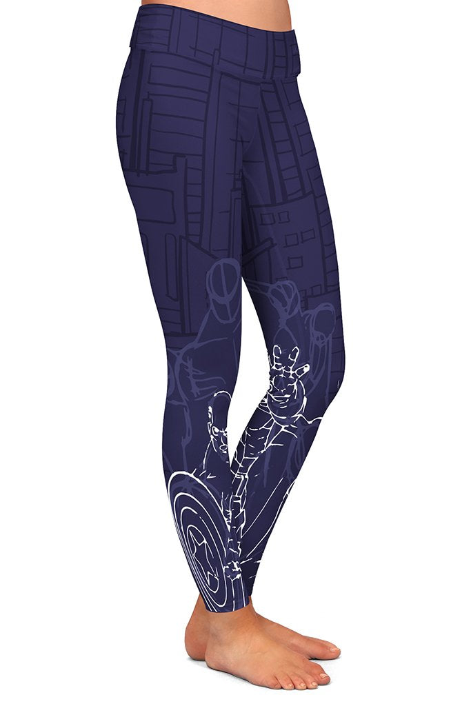DS CAPTAIN SUPERHERO LEGGINGS - YOGA - EXCLUSIVE! (WHOLESALE)