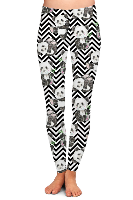 CHEVRON PANDA LEGGINGS - YOGA - EXCLUSIVE!